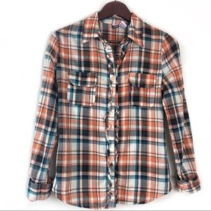 Love on a Hanger Button down Plaid Size Small